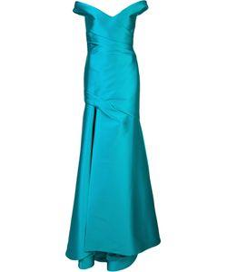 Monique Lhuillier   Off Shoulder Gown 14 Polyester/Polyimide/Spandex/Elastane/Silk