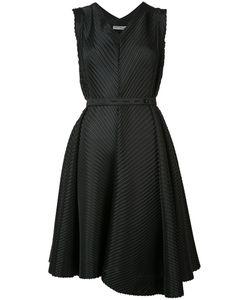 Issey Miyake | Плиссированное Платье В Диагональную Полоску