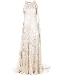 Talbot Runhof | Shoulder Ruffle Evening Gown
