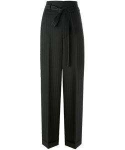 Helmut Lang | Pinstripe Paper Bag Pants 6 Polyester/Virgin