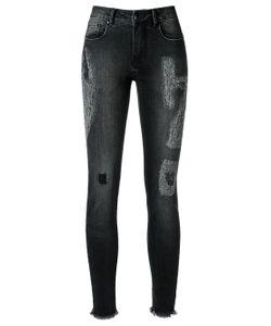 Amapô | Distressed Crop Skinny Jeans