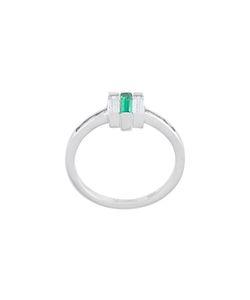V JEWELLERY   Chrysler Emerald Ring Women Zirconium/Emerald/Rhodium Plated