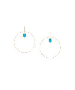 JO LLE JEWELLERY | Lapis And Diamond Set Hoop Earrings Women