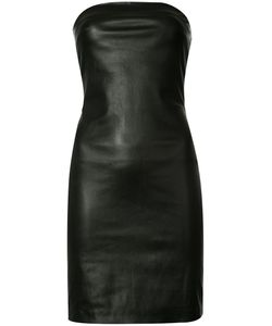 THE PERFEXT | Theperfext Fitted Dress Xs Leather