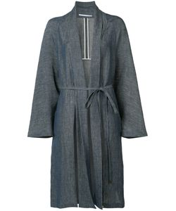 ROSETTA GETTY | Belted Robe Coat 5 Cotton/Cupro/Linen/Flax/Nylon
