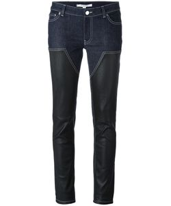 Givenchy | Panelled Skinny Trousers 36 Cotton/Lamb Skin/Spandex/Elastane