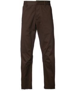 SIKI IM | Cropped Raw Edge Chinos Men