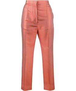 Haider Ackermann | Cropped Jacquard Trousers 42 Silk/Cotton