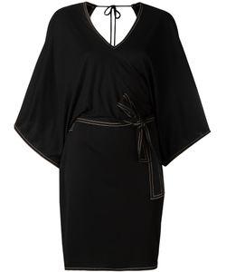 Toteme | Belted V-Back Dress Small Viscose