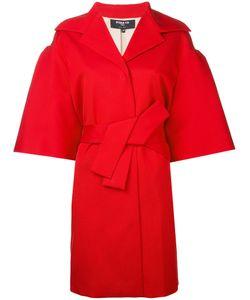 Paule Ka   Half Sleeve Belted Coat