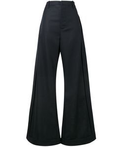JACQUEMUS | High Waisted Wide-Leg Trousers 34 Virgin Wool