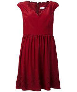 Red Valentino | Расклешенное Платье С Отделкой Фестонами