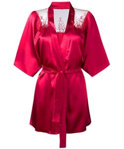 Fleur of England | Lace Trim Kimono Medium Silk/Polyester/Spandex/Elastane/Polyamide