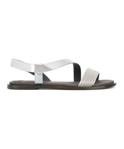 Brunello Cucinelli | Flat Sandals 37.5 Leather