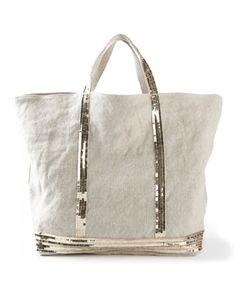 Vanessa Bruno | Sequin Embellished Tote Linen/Flax