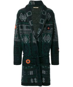 Nuur | Patterned Long Cardigan Men