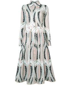 Sophie Theallet | Leaf Print Shirt Dress Size 6