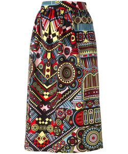 Holly Fulton | Printed Straight Skirt 12 Cotton
