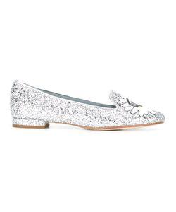 Chiara Ferragni | Glitter Eyes Slippers 40 Leather/Pvc