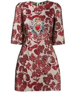 Dolce & Gabbana | Платье Мини С Цветочной Вышивкой