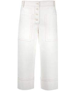 Tibi | Fla Cropped Trousers 4 Polyester/Spandex/Elastane/Viscose