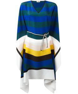 Fendi | Striped Kaftan Dress Silk