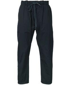 KAZUYUKI KUMAGAI | Cropped Drawstring Trousers 3 Cotton/Nylon/Polyurethane
