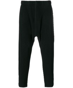 HOMME PLISSE ISSEY MIYAKE | Embossed Stripes Loose Trousers Men