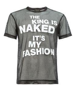 COMME DES GARCONS HOMME PLUS | Comme Des Garçons Homme Plus Sheer Slogan Print T-Shirt