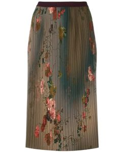 Antonio Marras | Print Pleated Skirt 44 Polyester/Spandex/Elastane