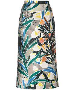 Rochas   Embellished Printed Skirt 40