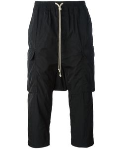 Rick Owens | Drop-Crotch Cropped Cargo Trousers 46 Polyester