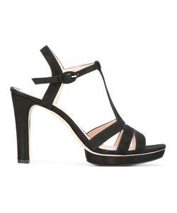 Repetto | T-Strap Sandals 38.5 Leather/Rubber