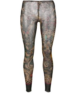 Dsquared2 | Printed Leggings Medium Polyamide/Spandex/Elastane