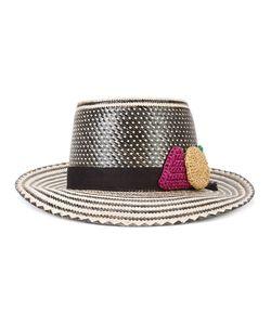 YOSUZI   X Lucy Folk Hat Straw