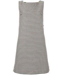 'S Max Mara | Striped Shift Dress 44 Cotton/Ramie/Raffia/Silk