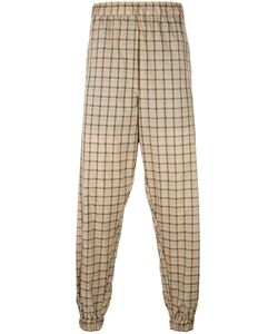Astrid Andersen | Lightweight Checked Track Pants Large Polyester
