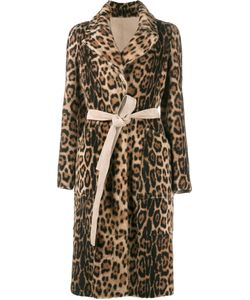 Yves Salomon | Leopard Print Coat 42 Lamb Nubuck Leather/Goat