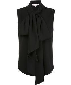 Carolina Herrera   Long Tied Blouse 10 Silk