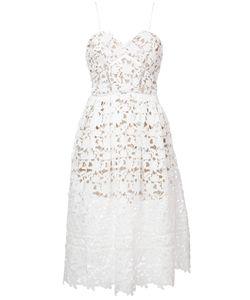 SELF-PORTRAIT   Laser-Cut Flared Dress