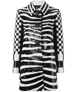 Marc Jacobs | Zebra Print Coat 2 Polyester/Wool/Silk