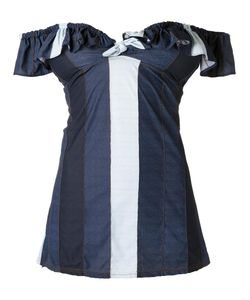 AMIR SLAMA | Off Shoulder Panelled Dress Medium Elastodiene