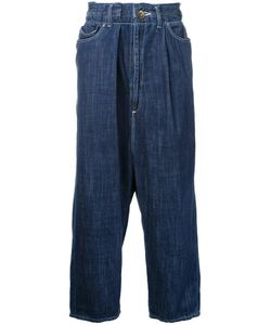 Maison Mihara Yasuhiro | Drop-Crotch Cropped Jeans 46 Cotton