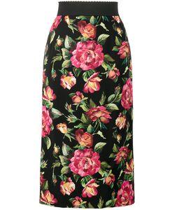 Dolce & Gabbana | Юбка-Карандаш С Цветочным Принтом