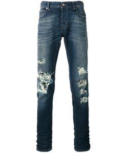 Just Cavalli | Distressed Straight Leg Jeans