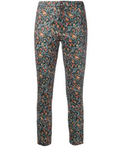 Isabel Marant | Foliage Print Skinny Trousers Size 38 Cotton/Lamb