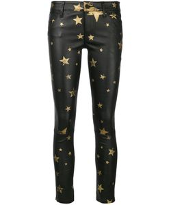 RTA | Star Print Leather Trousers Women