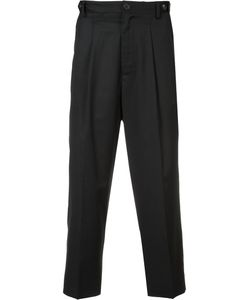Icosae | Pleat Detail Cropped Trousers Large Wool