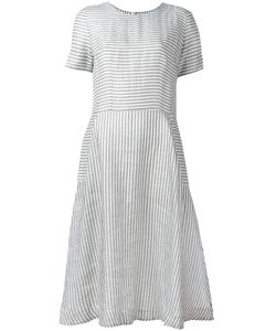 Chinti And Parker | Fla Striped Dress Large Silk/Cotton/Linen/Flax