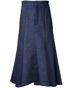 LE CIEL BLEU | Low Flare Denim Skirt Size